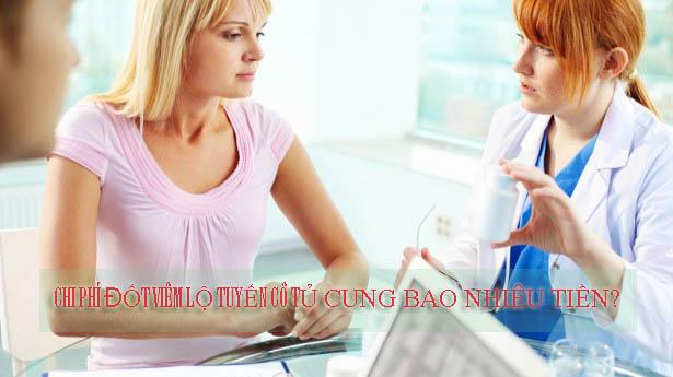 chi phí đốt viêm lộ tuyến cổ tử cung